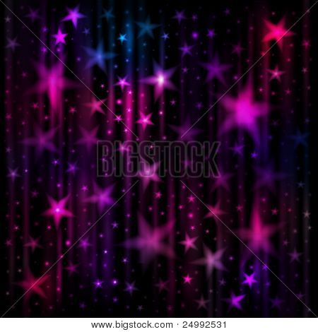Abstract dark background with stars