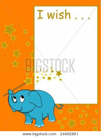 Vector Wishing Paper - write your wish, fold and keep in a safe place until it comes true. (Suitable for Birthday, Christmas, New Year and any special wishes)