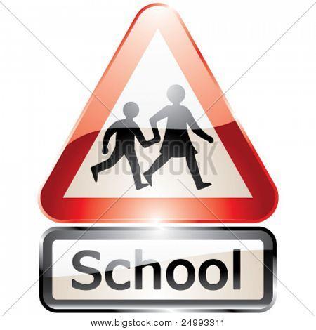 Vector Glossy Shiny School Signs