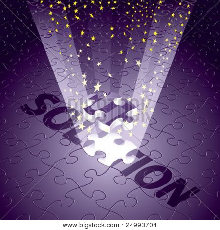 Vector Magical Solution for Religion/Beauty in Purple