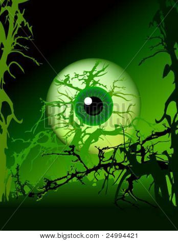 evil eye watching straight at you. For fear and thriller concepts