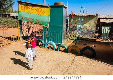 Johannesburg, South Africa, September 11, 2011, Small Creche Daycare Preschool In Suburban Soweto Ne