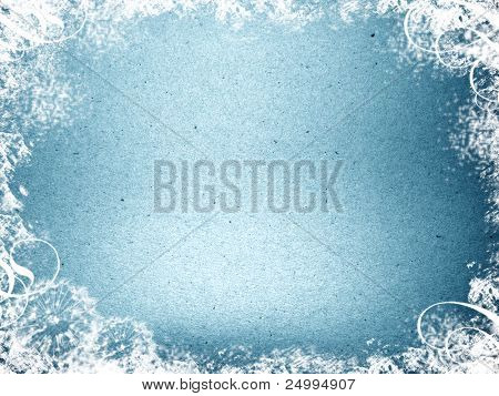 Frosty and grungy background