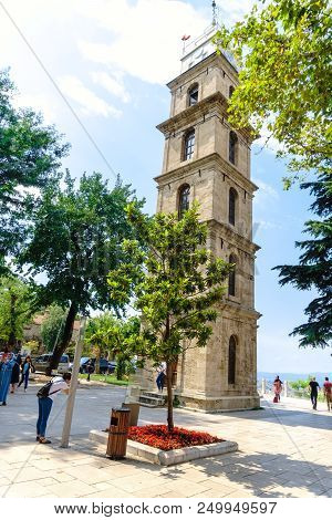Historical Clock Tower In Bursa Tophane