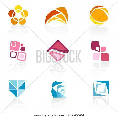 Abstract logo icons poster