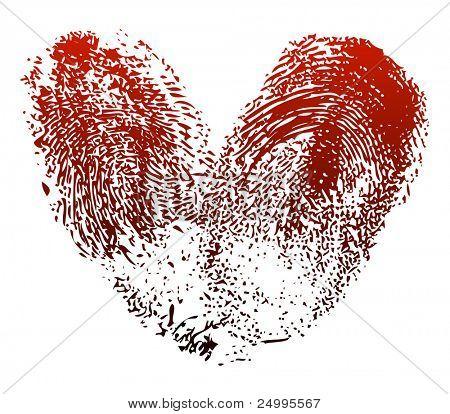 Fingerprints heart