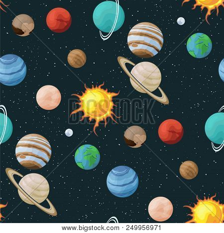 Solar System Vector Vector & Photo (Free Trial) | Bigstock