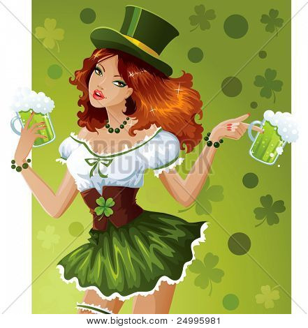 Sexy waitress for St.Patric's Day