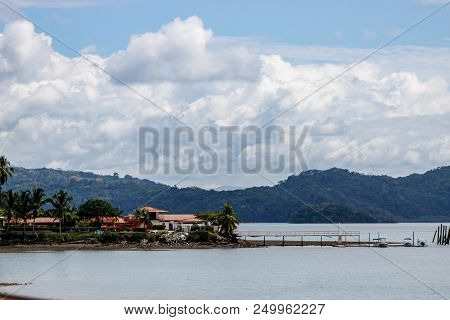 View Over The Coastline Of Golfito, Costa Rica.