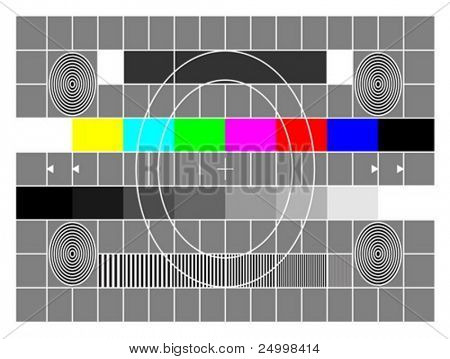 TV test screen