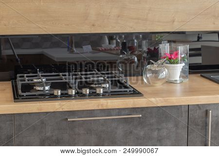 New design of built-in oven and cooker in the kitchen poster