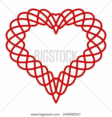 Heart Curved Line Icon. Simple Illustration Of Heart Curved Line Vector Icon For Web Design Isolated