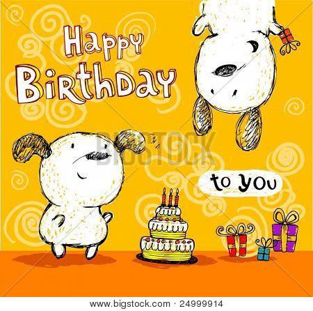 Birthday card, friends.