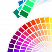 illustration of the color spectrum palette background poster