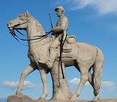 Statue of Union calvary soldier which is located in Gettysburg National Park Pennsylvania. poster
