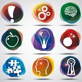Idea Symbols Set. poster