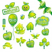 Set of environmental icons and green design-elements. poster