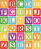 Vector Baby Blocks Set 1 of 3 - Capital Letters Alphabet poster
