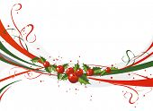 Abstract Xmas background poster