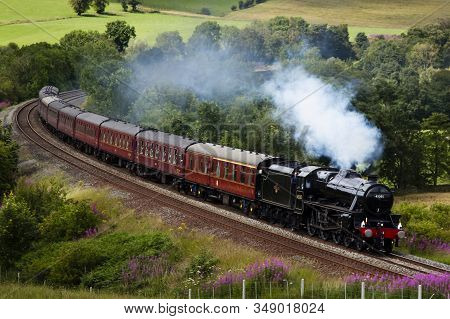 Armathwaite, England - July 23: Preserved Steam Locomotive 45305 Heads The Cumbrian Mountain Express