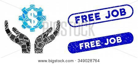 Mosaic Maintenance Price And Distressed Stamp Seals With Free Job Text. Mosaic Vector Maintenance Pr