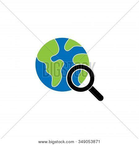 World Globe. Globe icon. Globe vector. Globe icon vector. Globe logo. Globe symbol. web search icon. World vector. Globe icon isolated on white background. World globe vector icon modern and simple flat symbol for website, mobile, logo, app, UI.