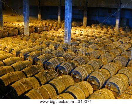 Ageing Cognac Barrels