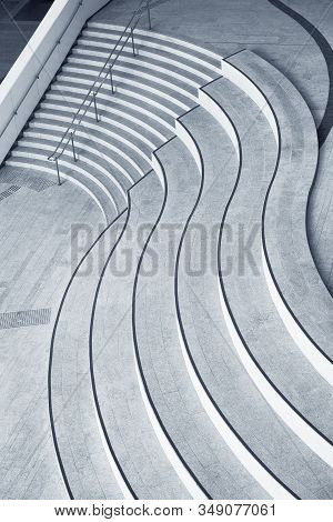 Stairway Of Modern Architecture. Building Abstract Background