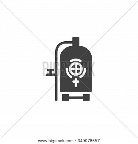 Brewery Steel Tank Vector Icon. Filled Flat Sign For Mobile Concept And Web Design. Craft Beer Produ