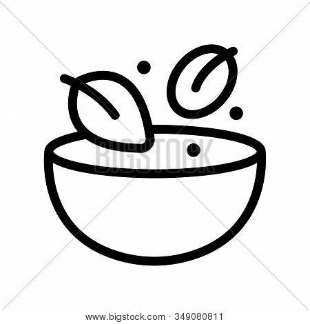 Health Food Icon Vector. Thin Line Sign. Isolated Contour Symbol Illustration