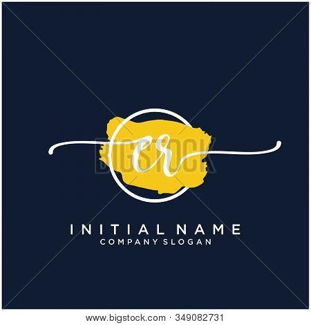 Er Initial Handwriting Logo Design With Brush Circle. Logo For Fashion,photography, Wedding, Beauty,