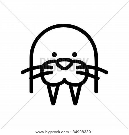 Walrus Icon Vector. Thin Line Sign. Isolated Contour Symbol Illustration
