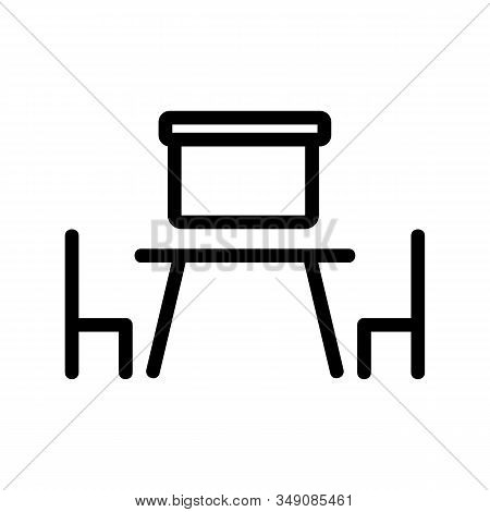 The Negotiating Room Is An Icon Vector. Thin Line Sign. Isolated Contour Symbol Illustration