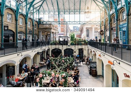 London, Uk - May 15, 2019: Interior View Of Covent Garden Market With Sunflare. Located In The West