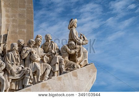 Lisbon, Portugal - January 17, 2020: Close Up View Of The Padrao Dos Descobrimentos (monument Of The