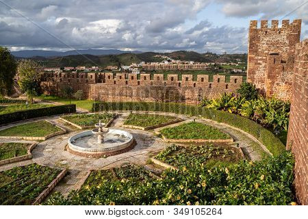 Silves, Portugal - January 23, 2020: View Of The Interior Of The Silves Castle, From Up On The Castl