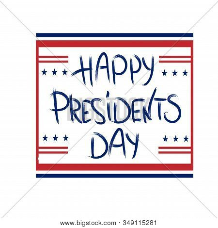 Happy Presidents Day With 3D Realistic Stars