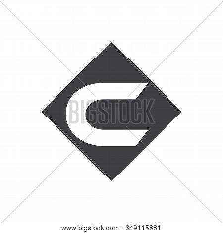 Letter C Logo Design Template,technology Abstract Dot Connection Cross Vector Logo Icon Circle Logot