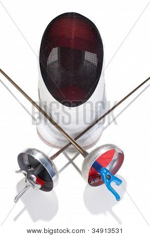 Fencer Sword And Mask