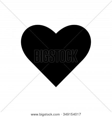 Heart Outline Icon Isolated. Symbol, Logo Illustration For Mobile Concept And Web Design.