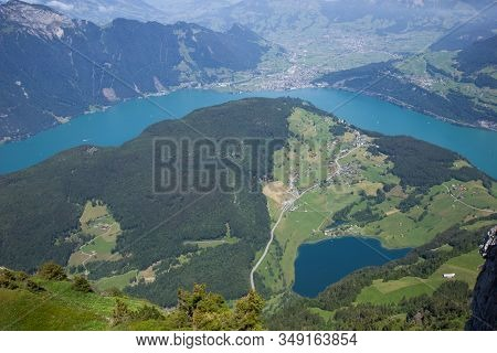Stunning View Over Lake Uri Seen From The Niederbauen