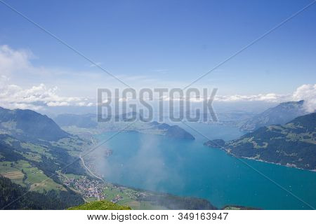 Lake Lucerne In Direction Of Lucerne, Seen From The Niederbauen