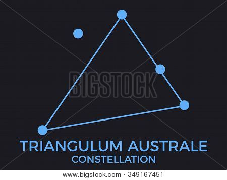 Triangulum Australe Constellation. Stars In The Night Sky. Cluster Of Stars And Galaxies. Constellat