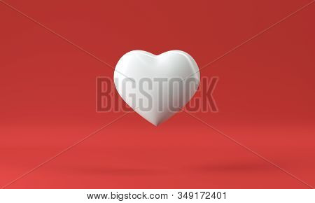 3d Render Heart Boxes,isolated On White Background
