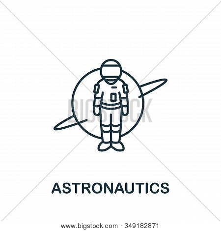 Astronautics Icon From Science Collection. Simple Line Element Astronautics Symbol For Templates, We