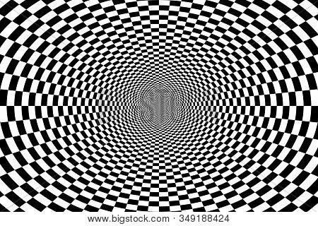 Psychedelic Optical Spiral With Radial Rays, Twirl, Vortex Backgrounds. Hypnotic Spiral