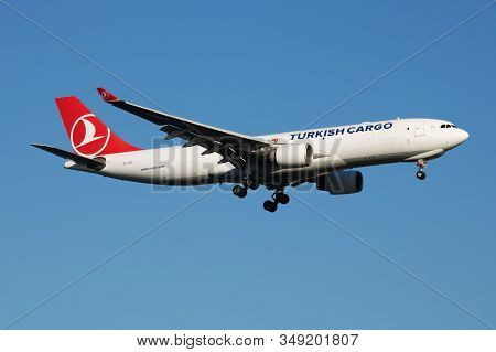 Istanbul / Turkey - March 29, 2019: Turkish Cargo Airbus A330-200 Tc-joo Cargo Plane Landing At Ista