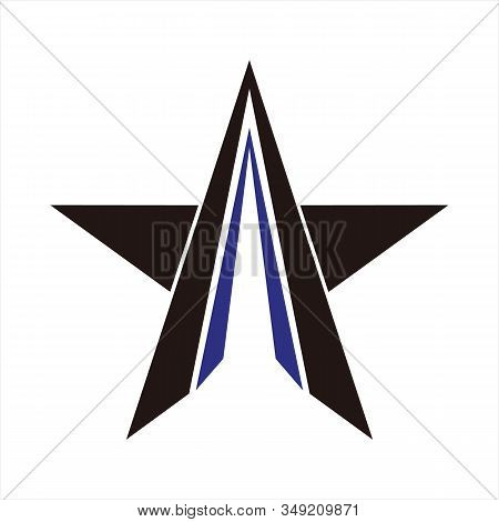 Star Icons, Star Image Icons, Blue Striped Star Icons, Eps10 Star Icons, Flat Star Icons, Star Appli