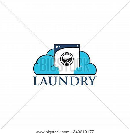 Wave Washer Laundry Logo Vector Element, Laundry Logo Template,wash Machine Laundry Room Logo Simple