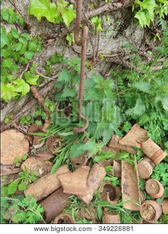 Random Heap Of More Than 100 Years Old Rusty Artillery Shells From Ww1 That Farmers Still Find In Fi